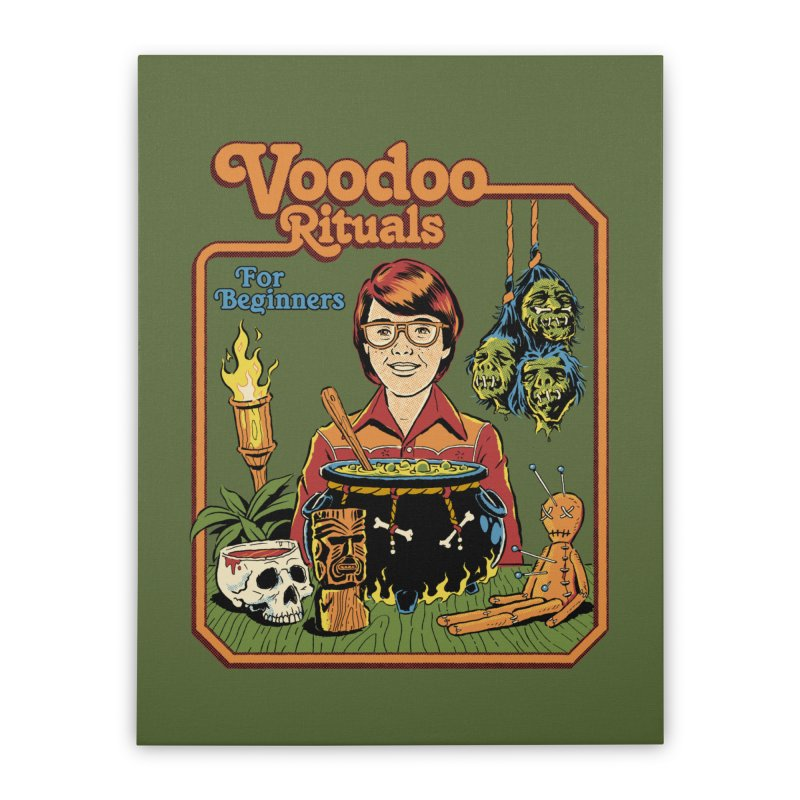 Voodoo Rituals For Beginners Home Stretched Canvas by Steven Rhodes