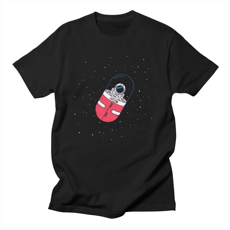 Space Capsule Men's T-Shirt by Steven Toang