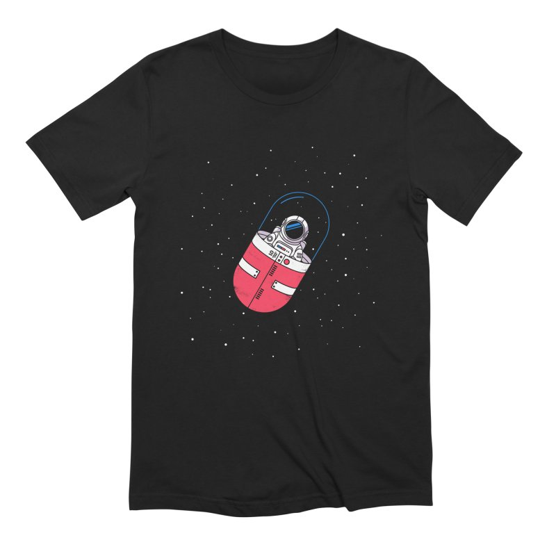 Space Capsule Men's Extra Soft T-Shirt by Steven Toang