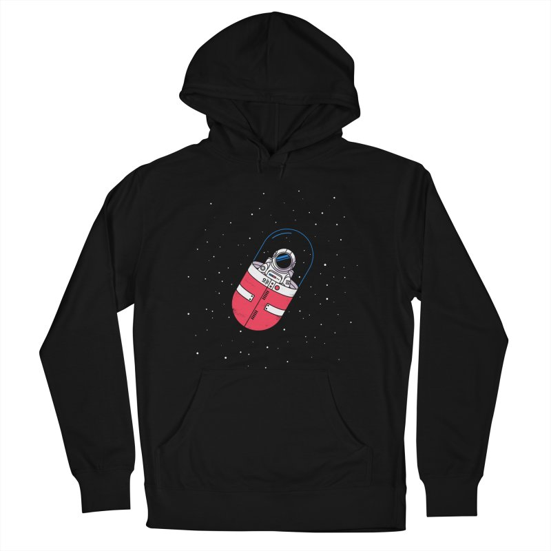Space Capsule Women's French Terry Pullover Hoody by Steven Toang