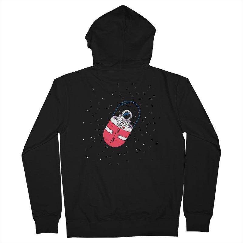 Space Capsule Men's Zip-Up Hoody by Steven Toang