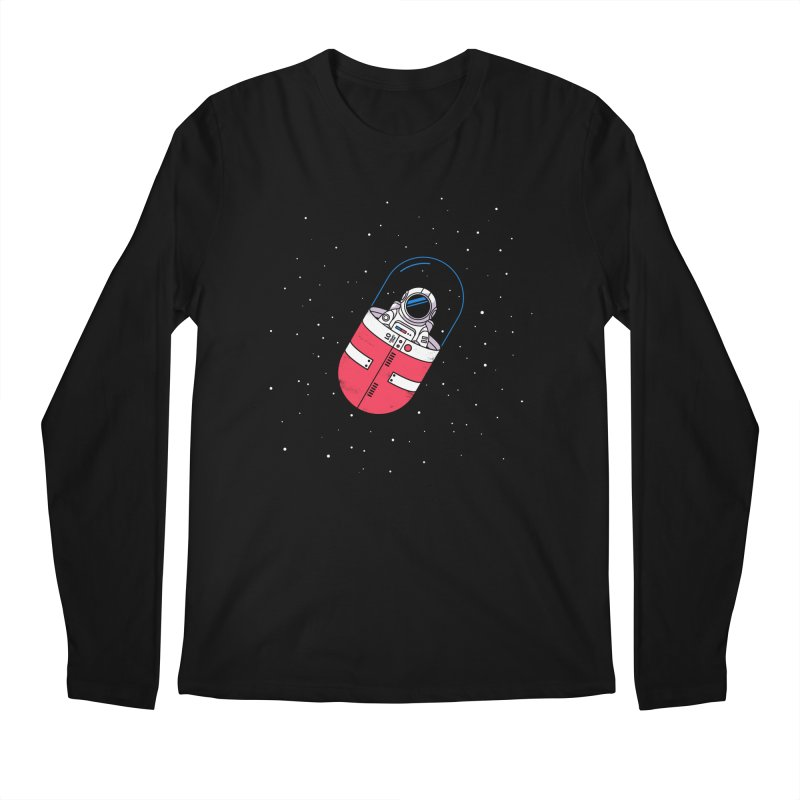 Space Capsule Men's Regular Longsleeve T-Shirt by Steven Toang