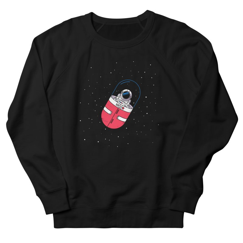 Space Capsule Men's French Terry Sweatshirt by Steven Toang