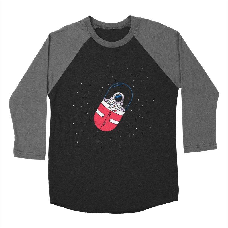 Space Capsule Women's Baseball Triblend Longsleeve T-Shirt by Steven Toang