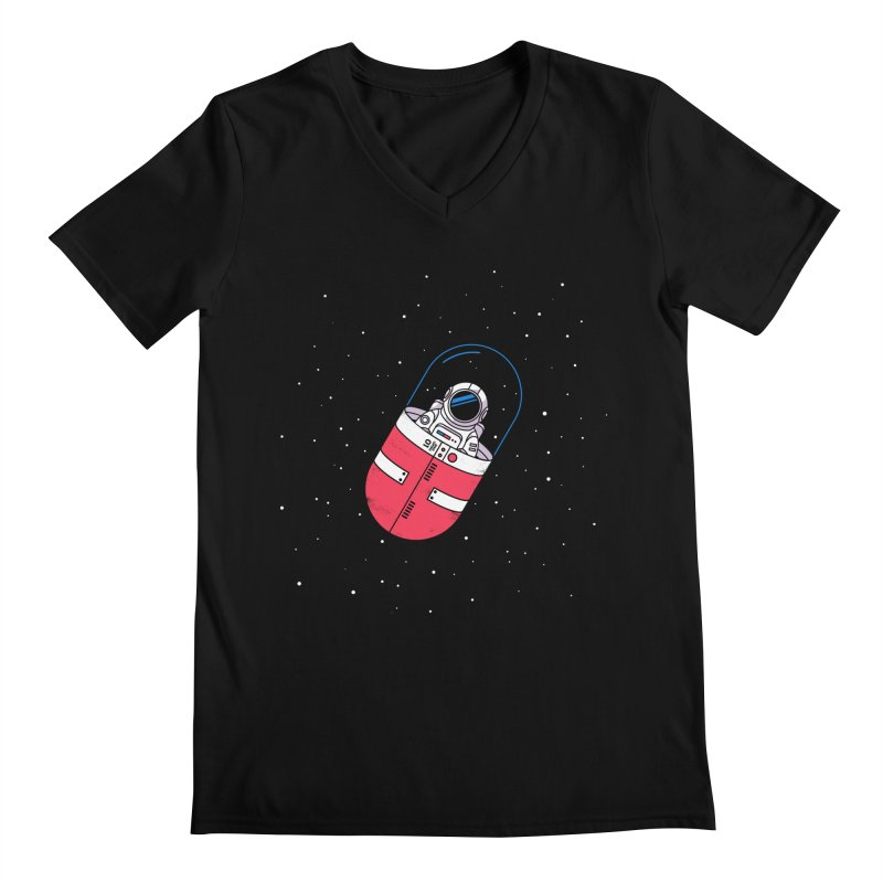 Space Capsule Men's V-Neck by Steven Toang
