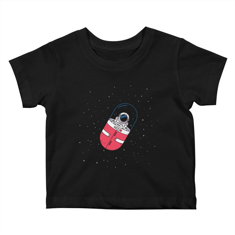 Space Capsule Kids Baby T-Shirt by Steven Toang