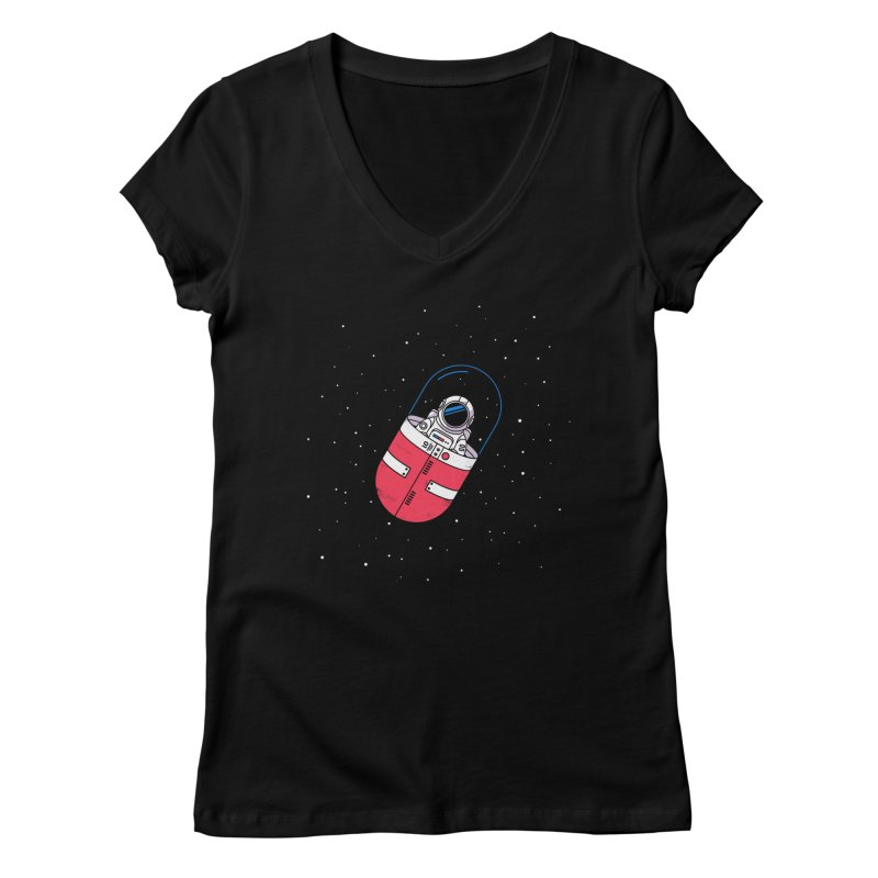 Space Capsule Women's V-Neck by Steven Toang