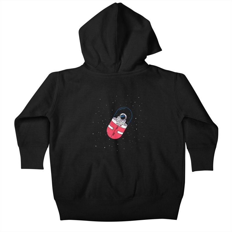 Space Capsule Kids Baby Zip-Up Hoody by Steven Toang