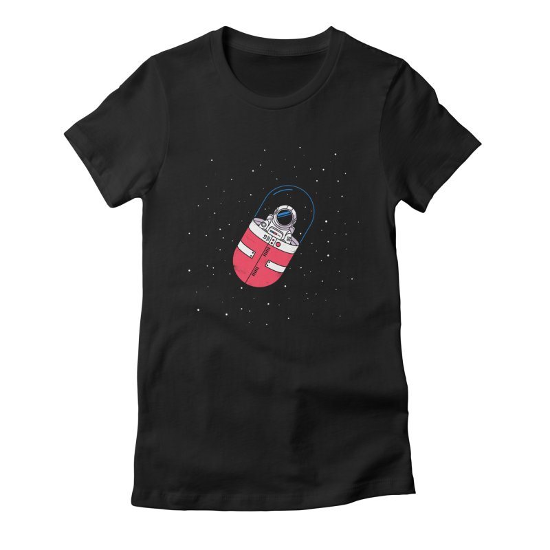 Space Capsule Women's T-Shirt by Steven Toang