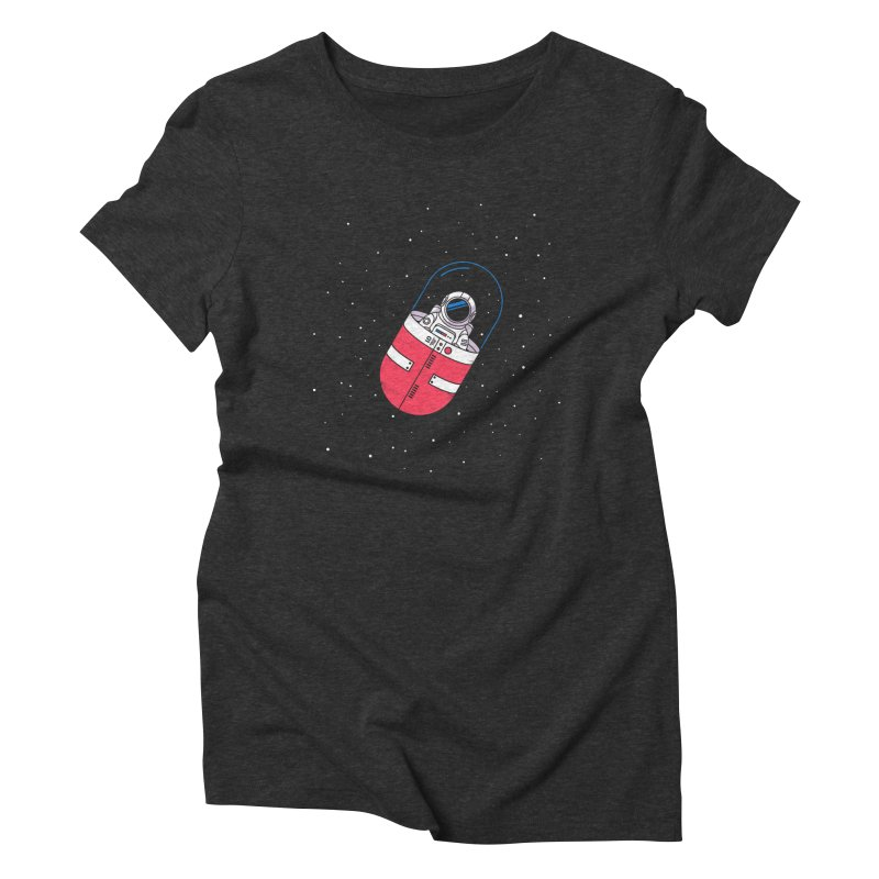 Space Capsule Women's Triblend T-Shirt by Steven Toang