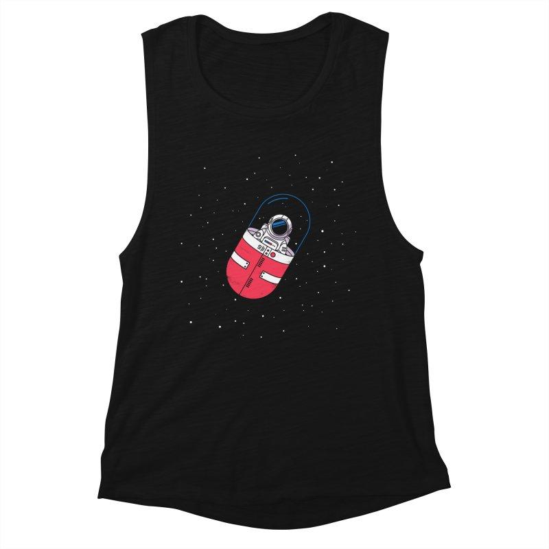 Space Capsule Women's Muscle Tank by Steven Toang