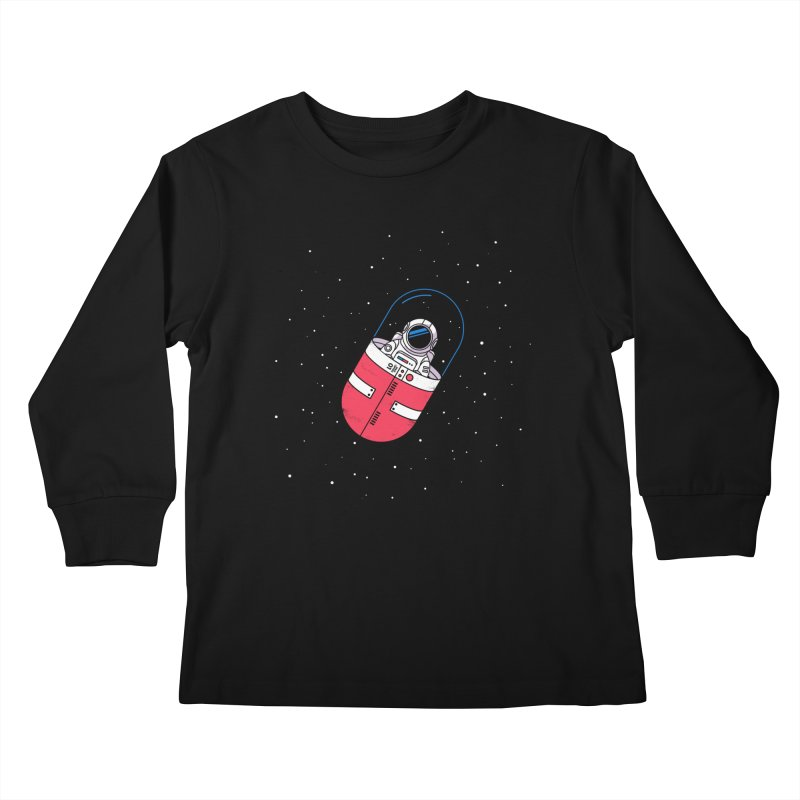 Space Capsule Kids Longsleeve T-Shirt by Steven Toang