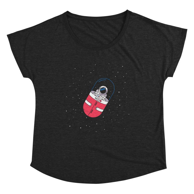 Space Capsule Women's Scoop Neck by Steven Toang