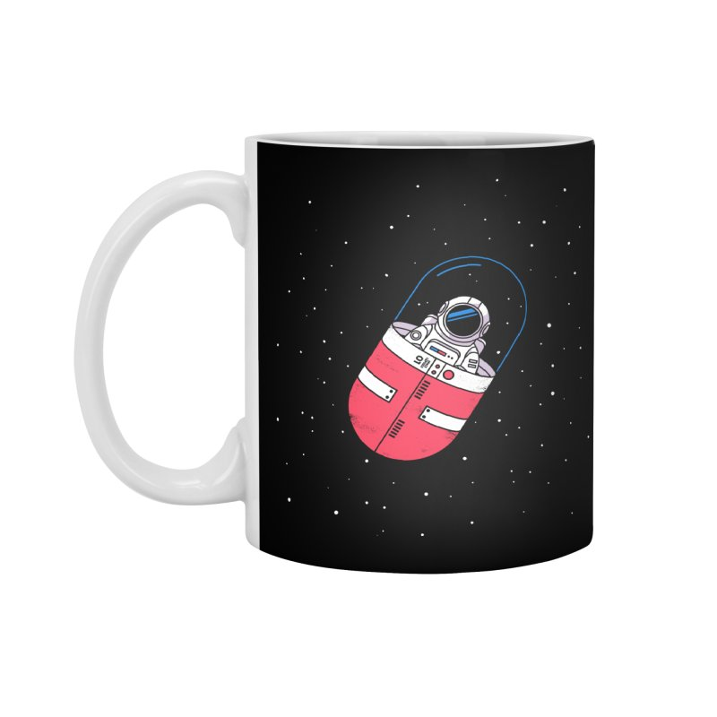 Space Capsule Accessories Standard Mug by Steven Toang