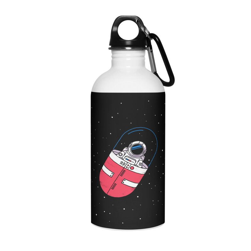 Space Capsule Accessories Water Bottle by Steven Toang