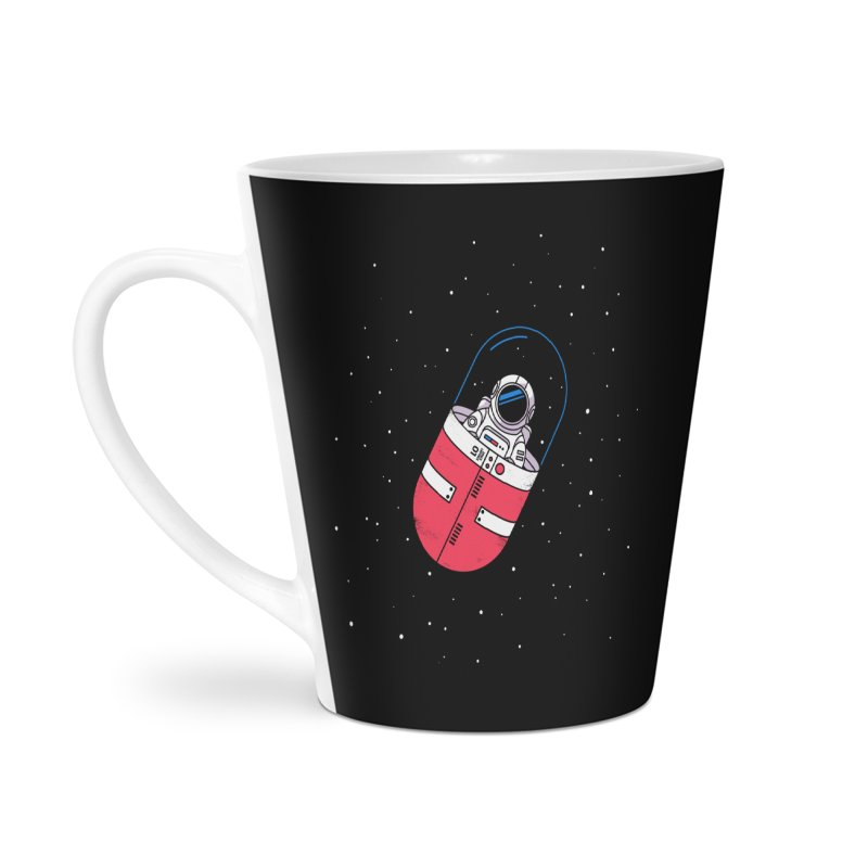 Space Capsule Accessories Latte Mug by Steven Toang