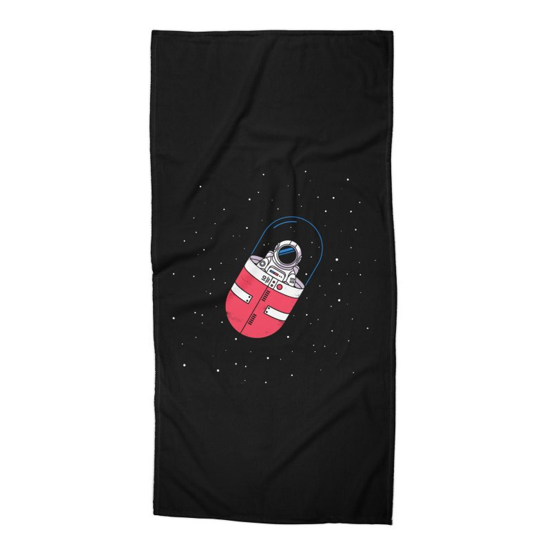 Space Capsule Accessories Beach Towel by Steven Toang