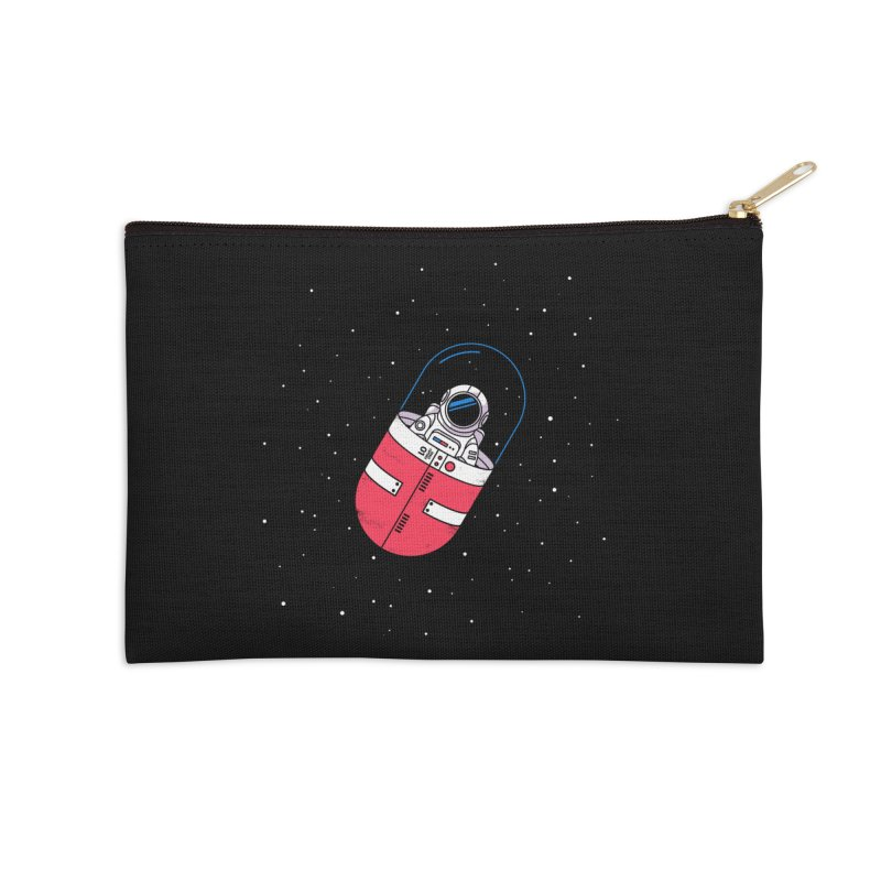 Space Capsule Accessories Zip Pouch by Steven Toang