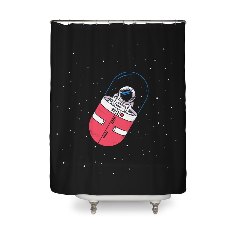 Space Capsule Home Shower Curtain by Steven Toang