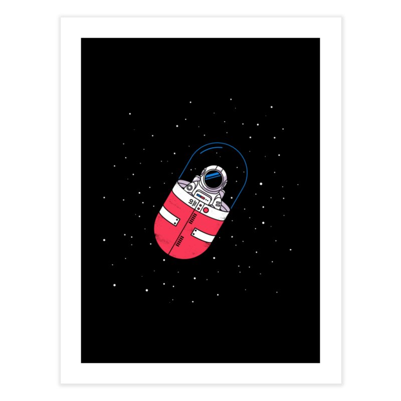 Space Capsule Home Fine Art Print by Steven Toang