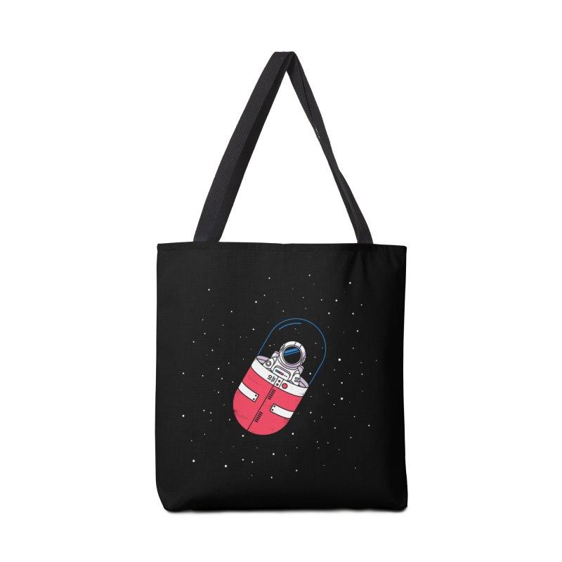 Space Capsule Accessories Tote Bag Bag by Steven Toang