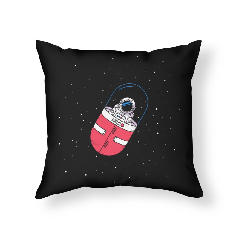 Space Capsule Home Throw Pillow by Steven Toang