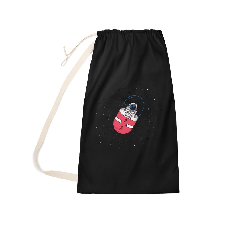 Space Capsule Accessories Laundry Bag Bag by Steven Toang