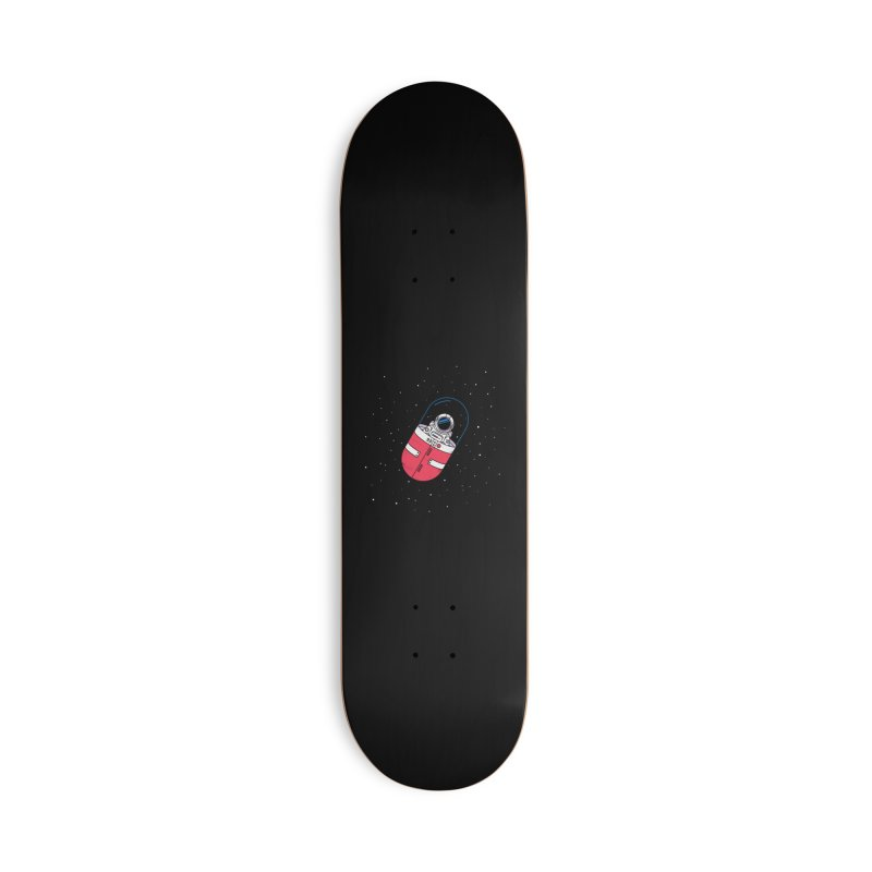 Space Capsule Accessories Skateboard by Steven Toang