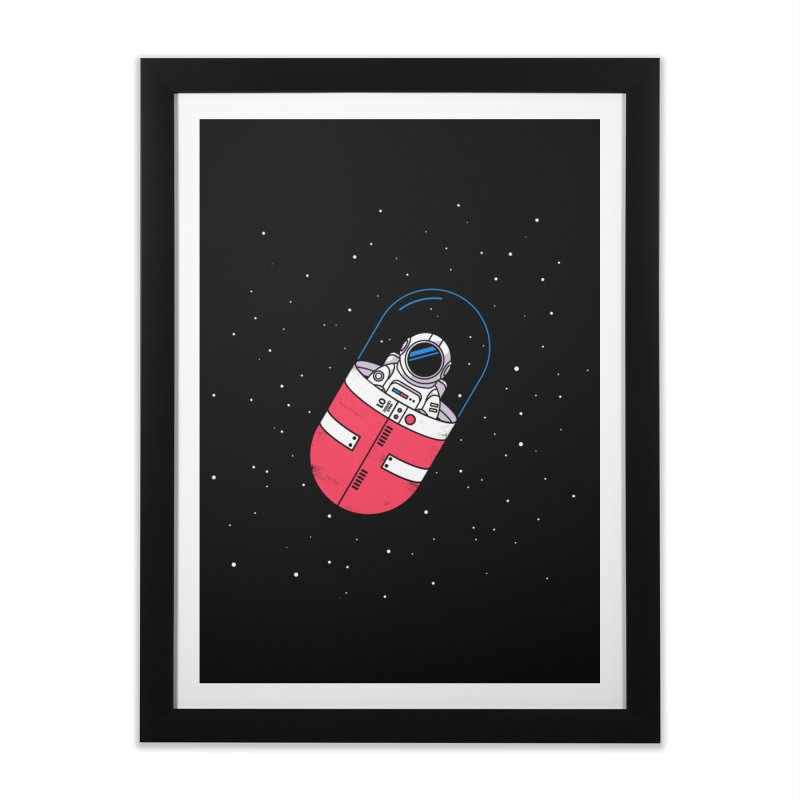 Space Capsule Home Framed Fine Art Print by Steven Toang