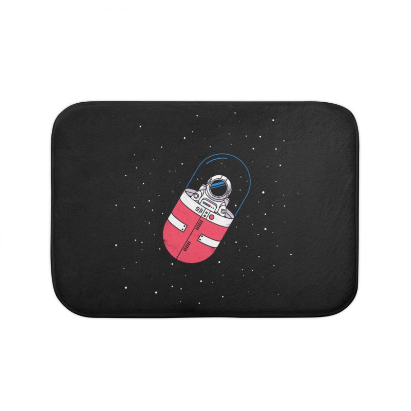 Space Capsule Home Bath Mat by Steven Toang