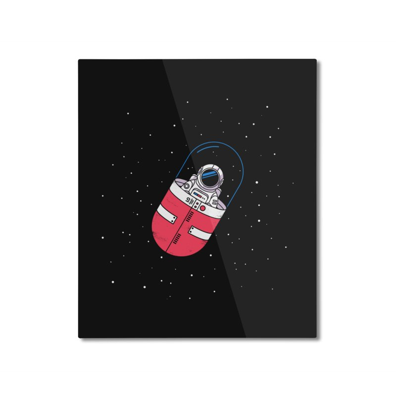 Space Capsule Home Mounted Aluminum Print by Steven Toang