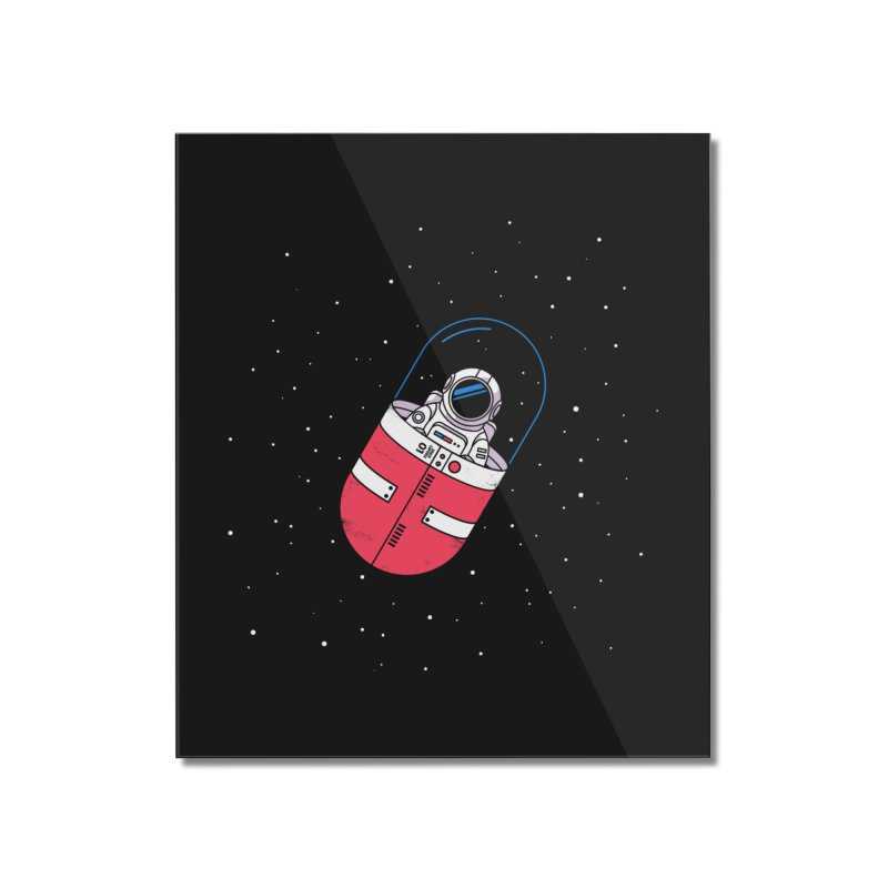 Space Capsule Home Mounted Acrylic Print by Steven Toang