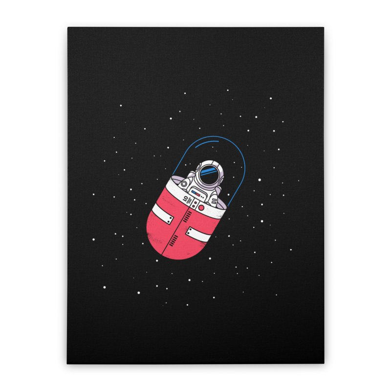 Space Capsule Home Stretched Canvas by Steven Toang