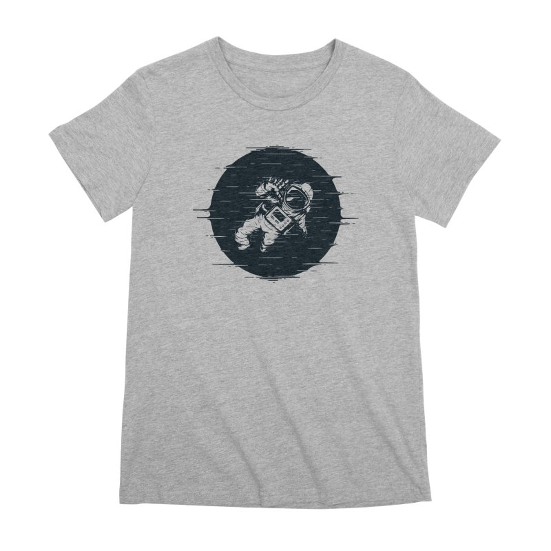 Glitch Space Women's Premium T-Shirt by Steven Toang