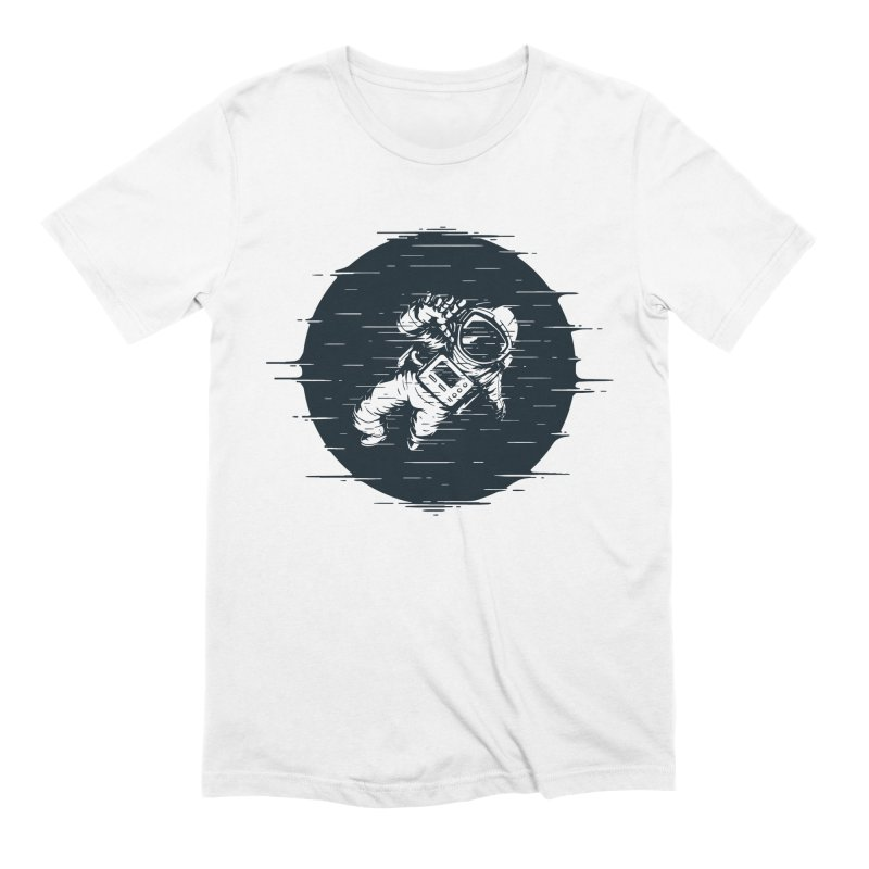 Glitch Space Men's Extra Soft T-Shirt by Steven Toang