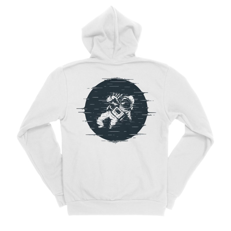 Glitch Space Men's Zip-Up Hoody by Steven Toang