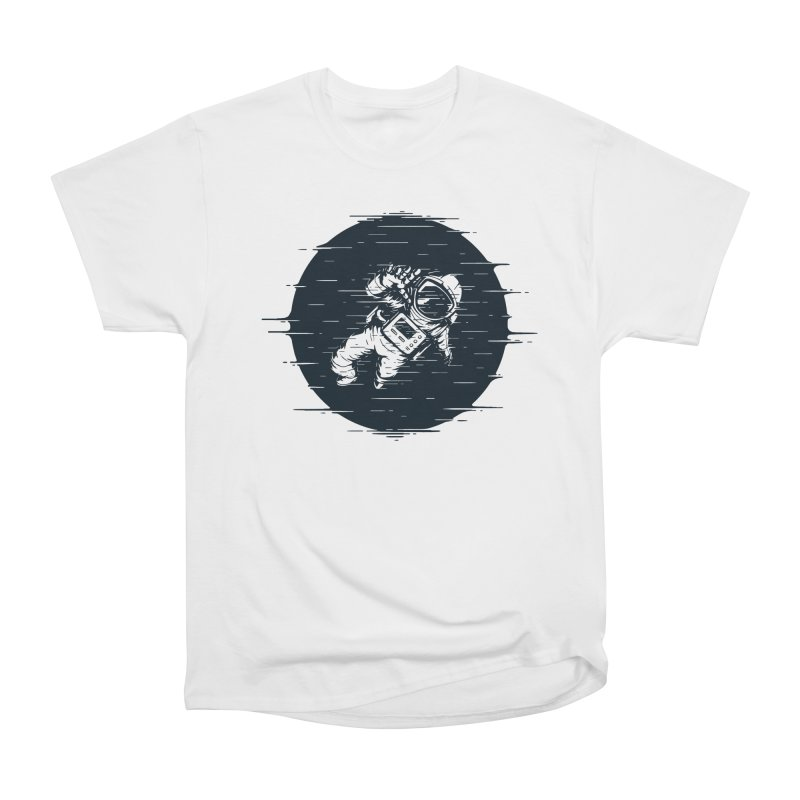 Glitch Space Women's Heavyweight Unisex T-Shirt by Steven Toang
