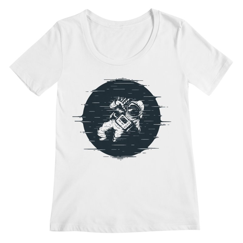 Glitch Space Women's Regular Scoop Neck by Steven Toang