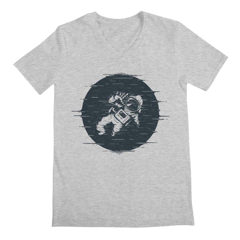 Glitch Space Men's Regular V-Neck by Steven Toang