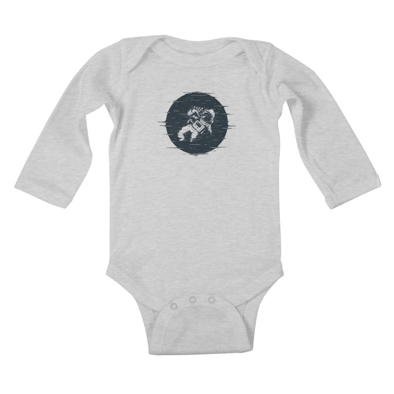 Glitch Space Kids Baby Longsleeve Bodysuit by Steven Toang
