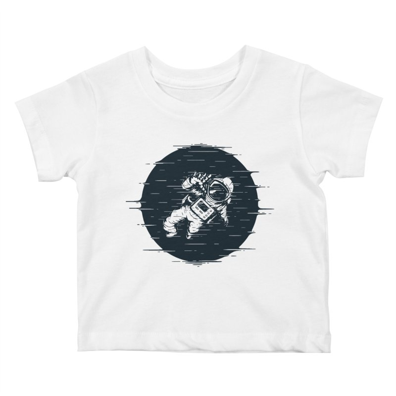 Glitch Space Kids Baby T-Shirt by Steven Toang