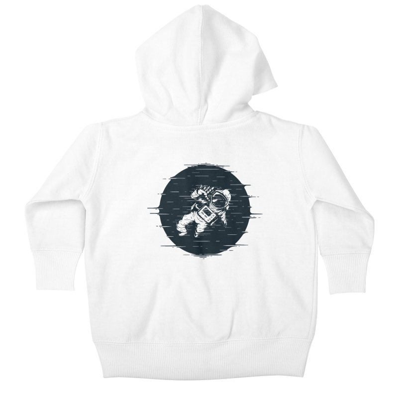 Glitch Space Kids Baby Zip-Up Hoody by Steven Toang
