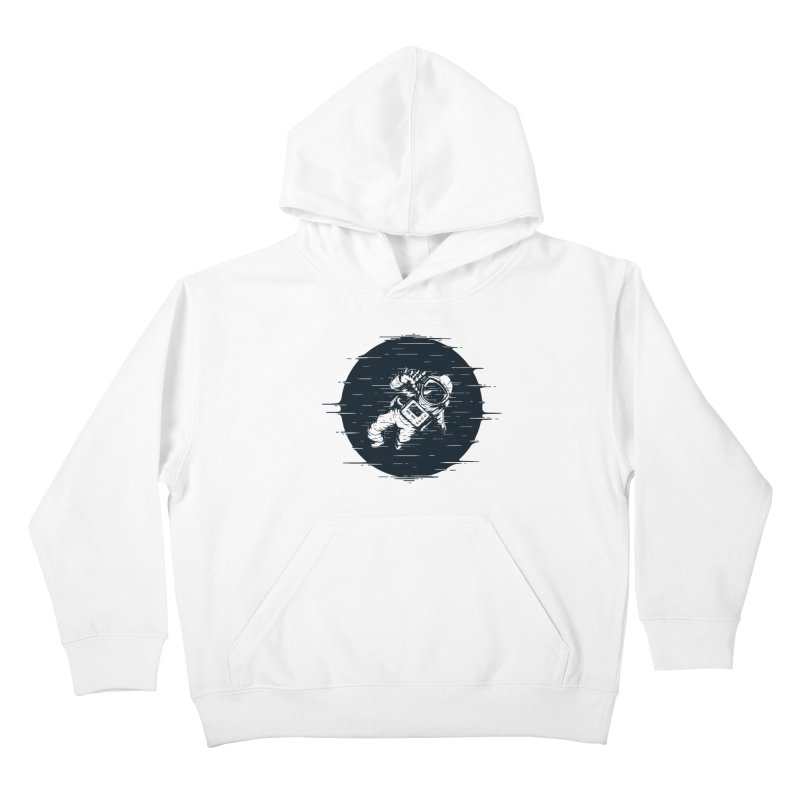 Glitch Space Kids Pullover Hoody by Steven Toang