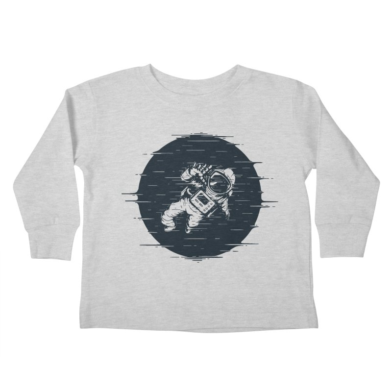 Glitch Space Kids Toddler Longsleeve T-Shirt by Steven Toang