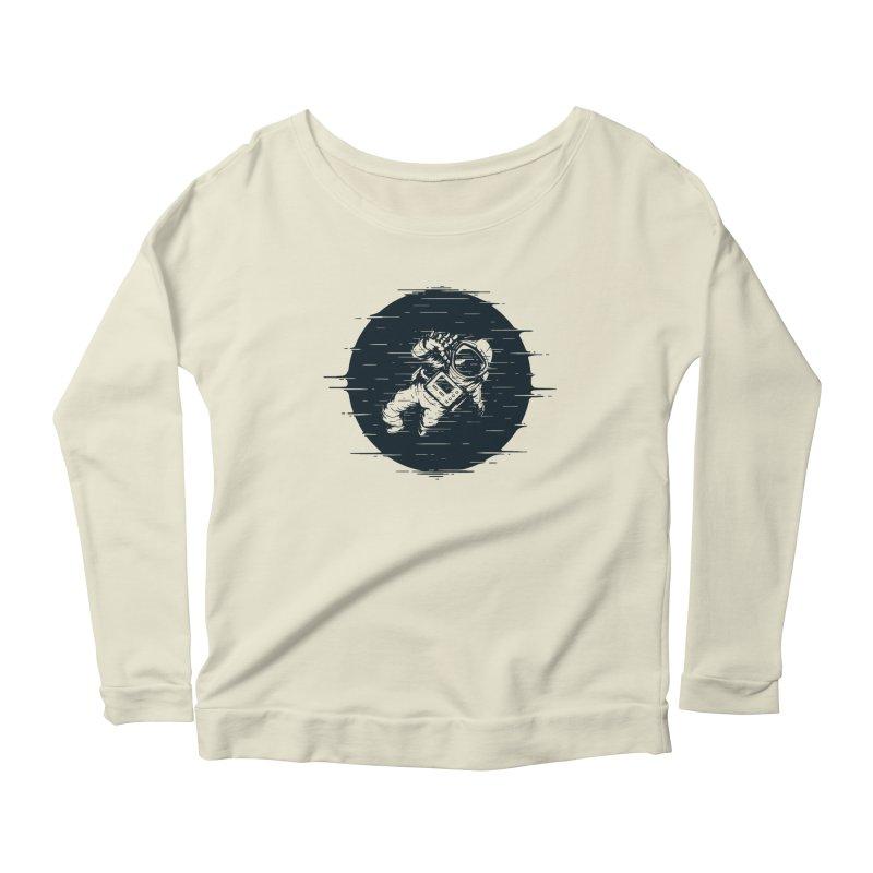 Glitch Space Women's Scoop Neck Longsleeve T-Shirt by Steven Toang