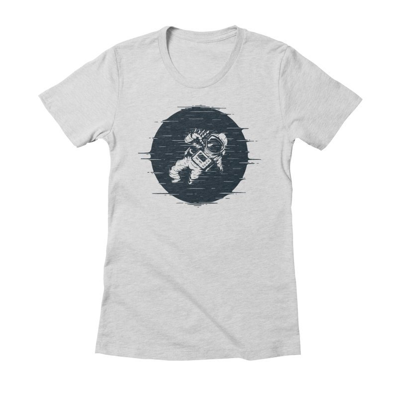 Glitch Space Women's Fitted T-Shirt by Steven Toang