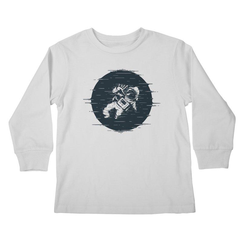 Glitch Space Kids Longsleeve T-Shirt by Steven Toang