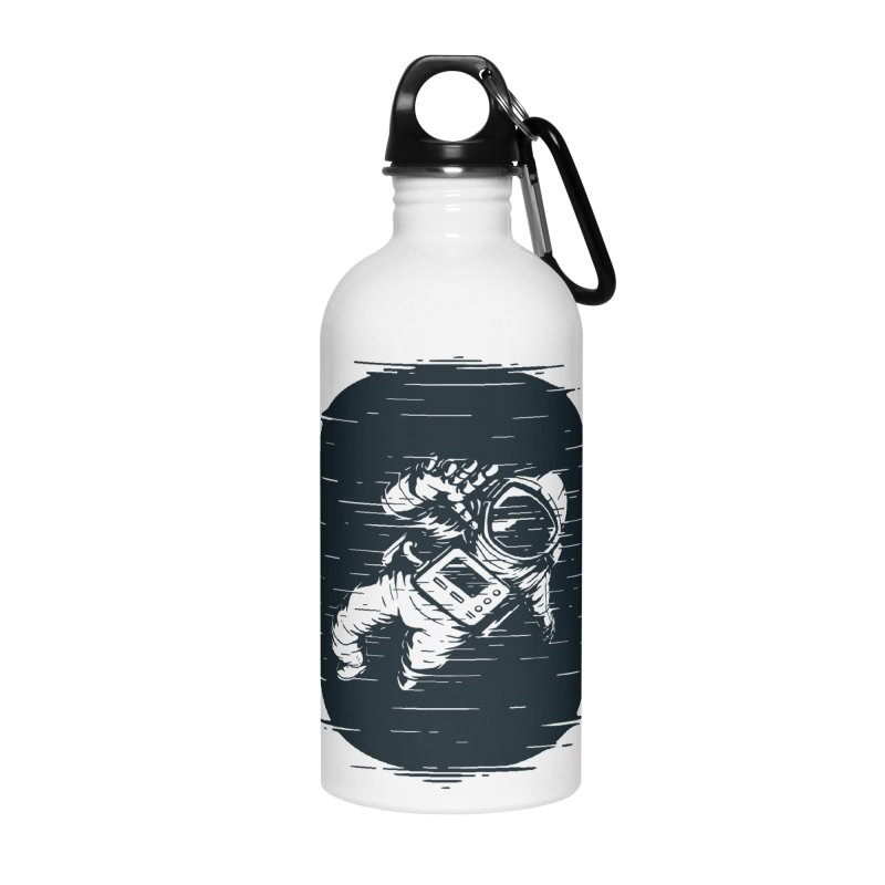 Glitch Space Accessories Water Bottle by Steven Toang