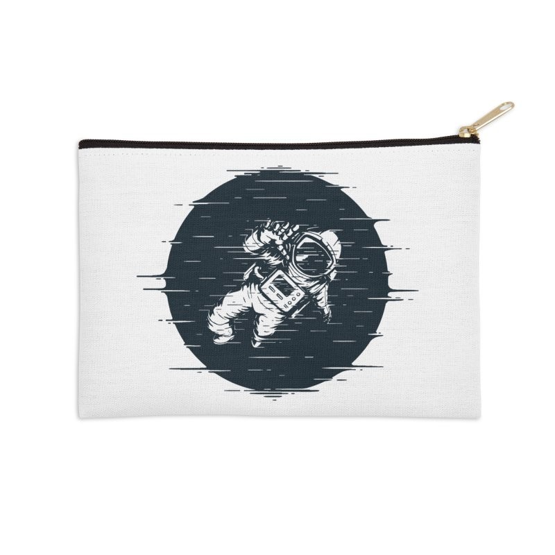 Glitch Space Accessories Zip Pouch by Steven Toang