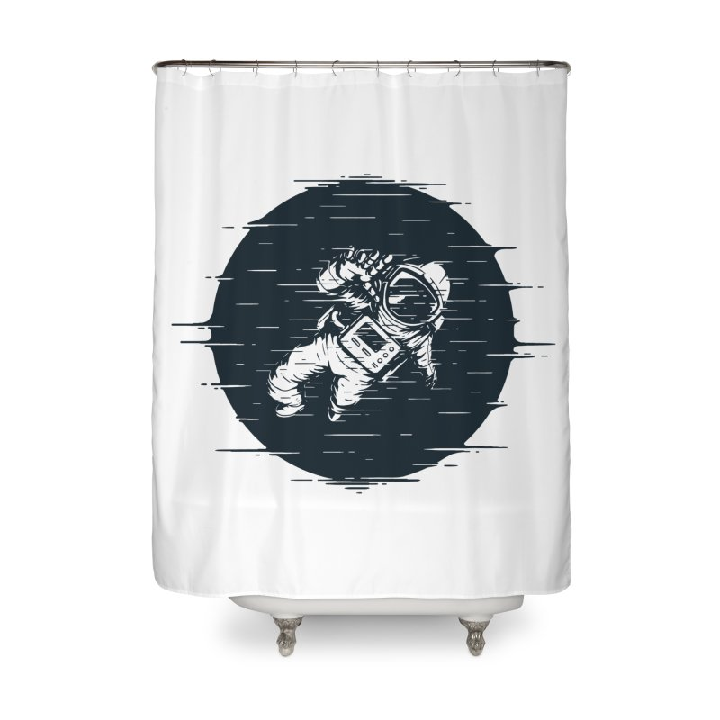 Glitch Space Home Shower Curtain by Steven Toang
